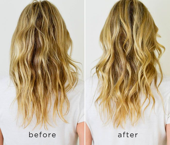 DIY hair mask for dry damaged hair, before and after, hair mask ...