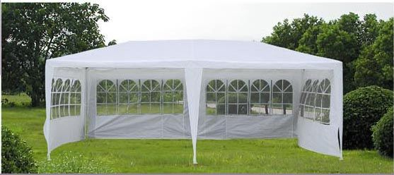 Details About 6m X 3m White Outdoor Pe Party Gazebo Garden Marquee