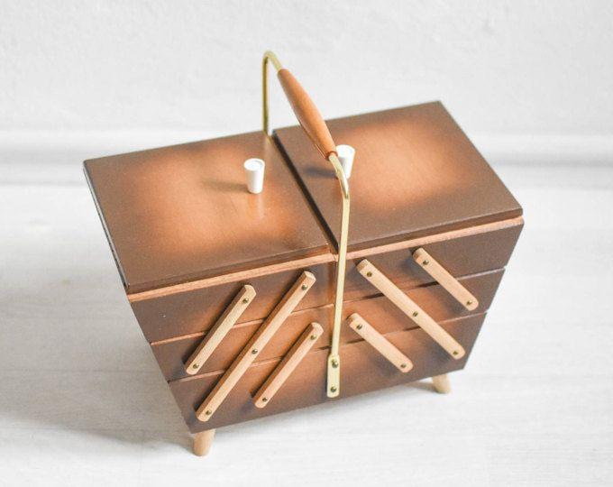Sewing basket knitting box sewing box knitting basket jewelry