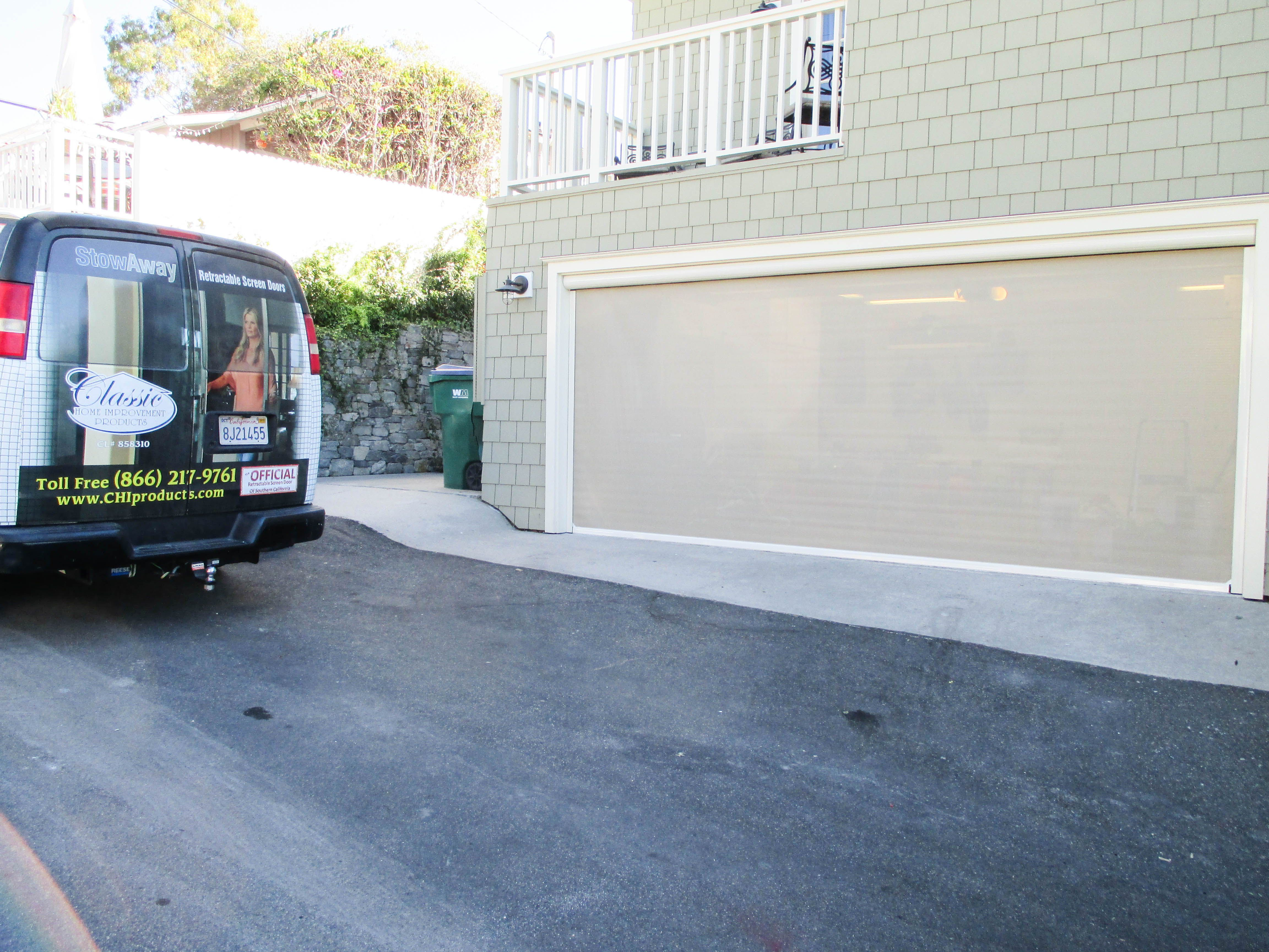 A Motorized Power Screen for your garage door can turn