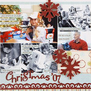 scrapbook multiple photos with a photo collage template christmas scrapbooking page layout. Black Bedroom Furniture Sets. Home Design Ideas