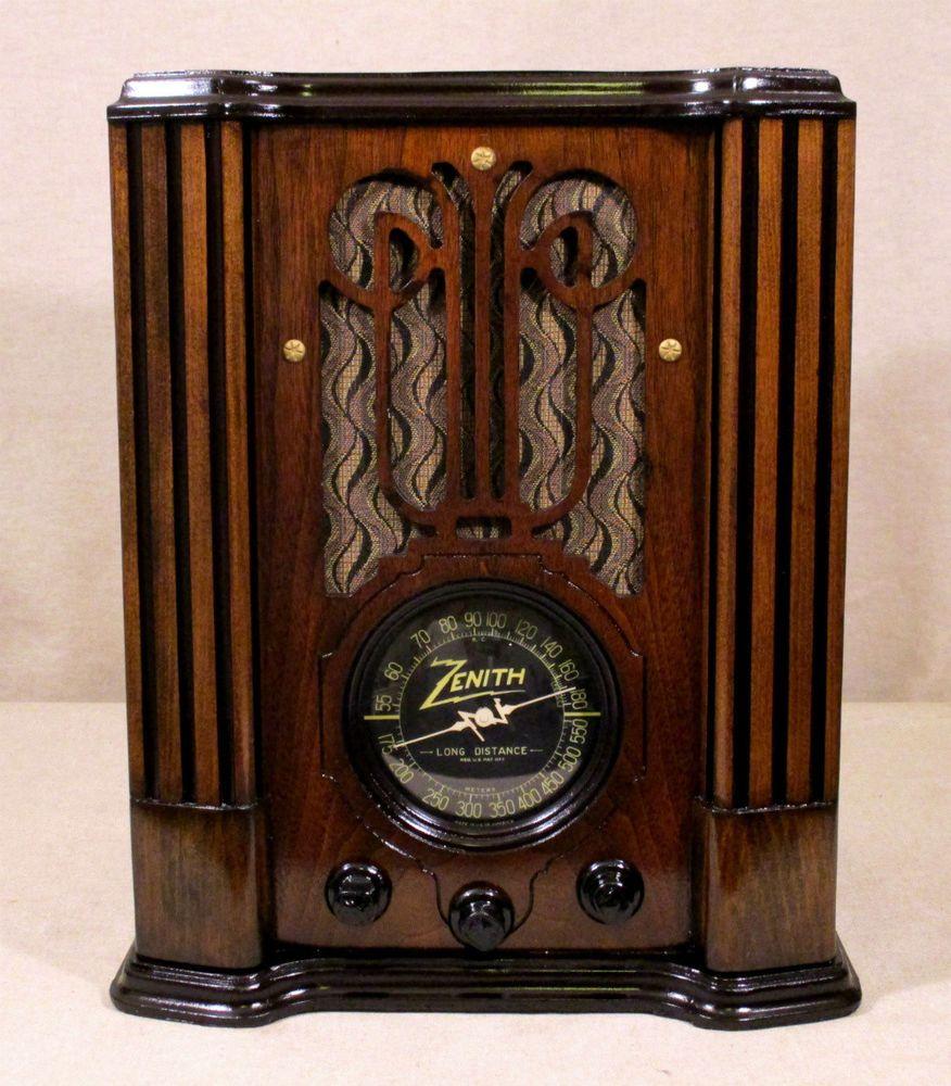 Vintage Zenith Wood Tombstone Radio Model 10 S 130 Broadcast Short Wave Police Bands 10 Vacuum Tubes Made In Usa Circa 1936 1937 Vintage Radio Antique Radio Retro Radios