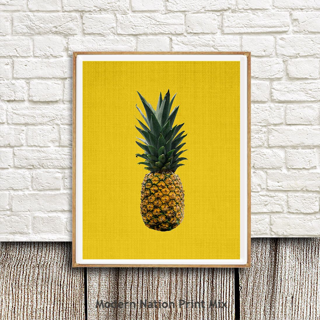 Pineapple Print, Tropical Fruit, Wall Art Decor,Printable, Instant ...