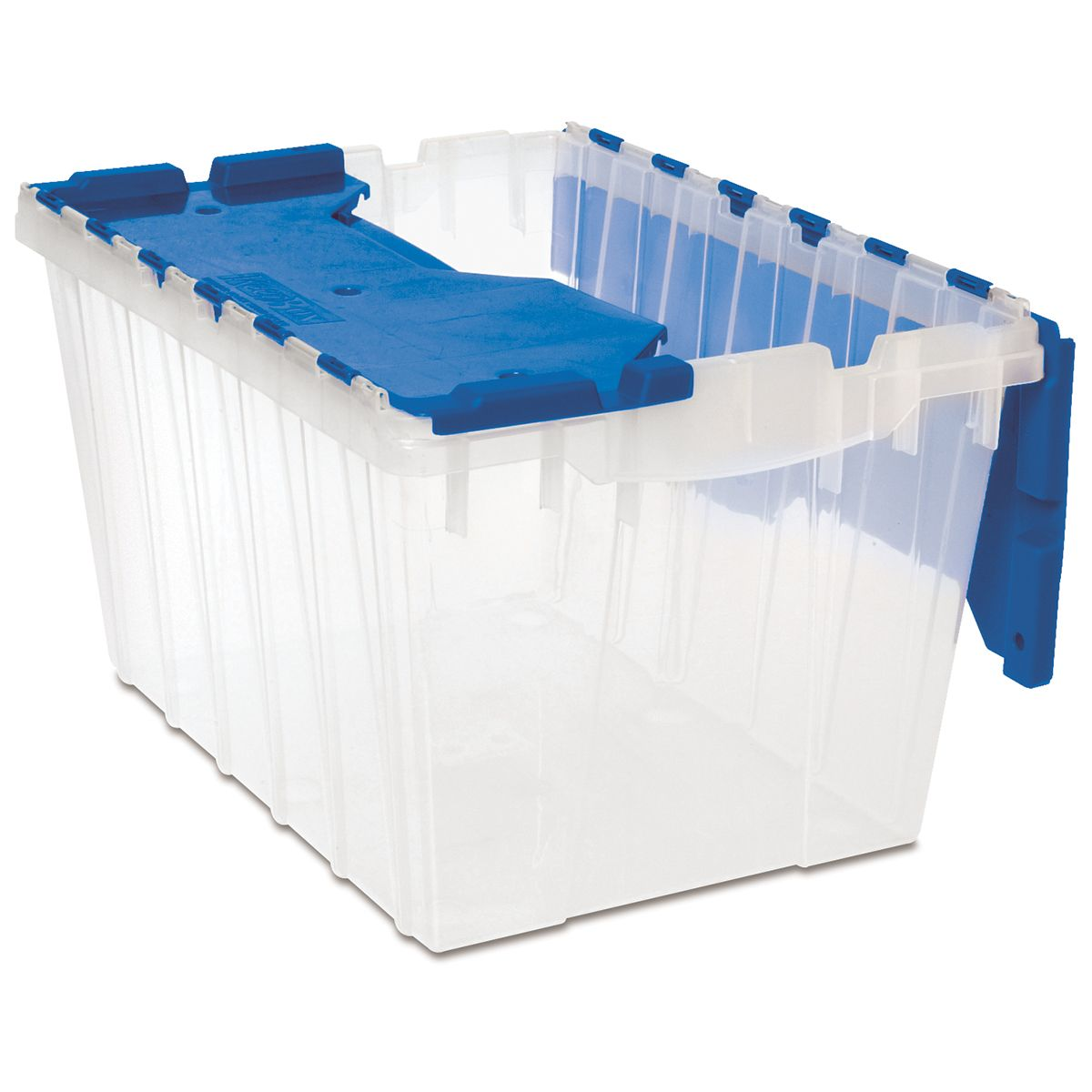 Keepbox 12 Gal 21 1 2 X 15 X 12 1 2 Clear Blue 66486cldbl Storage Storage Bins Plastic Storage