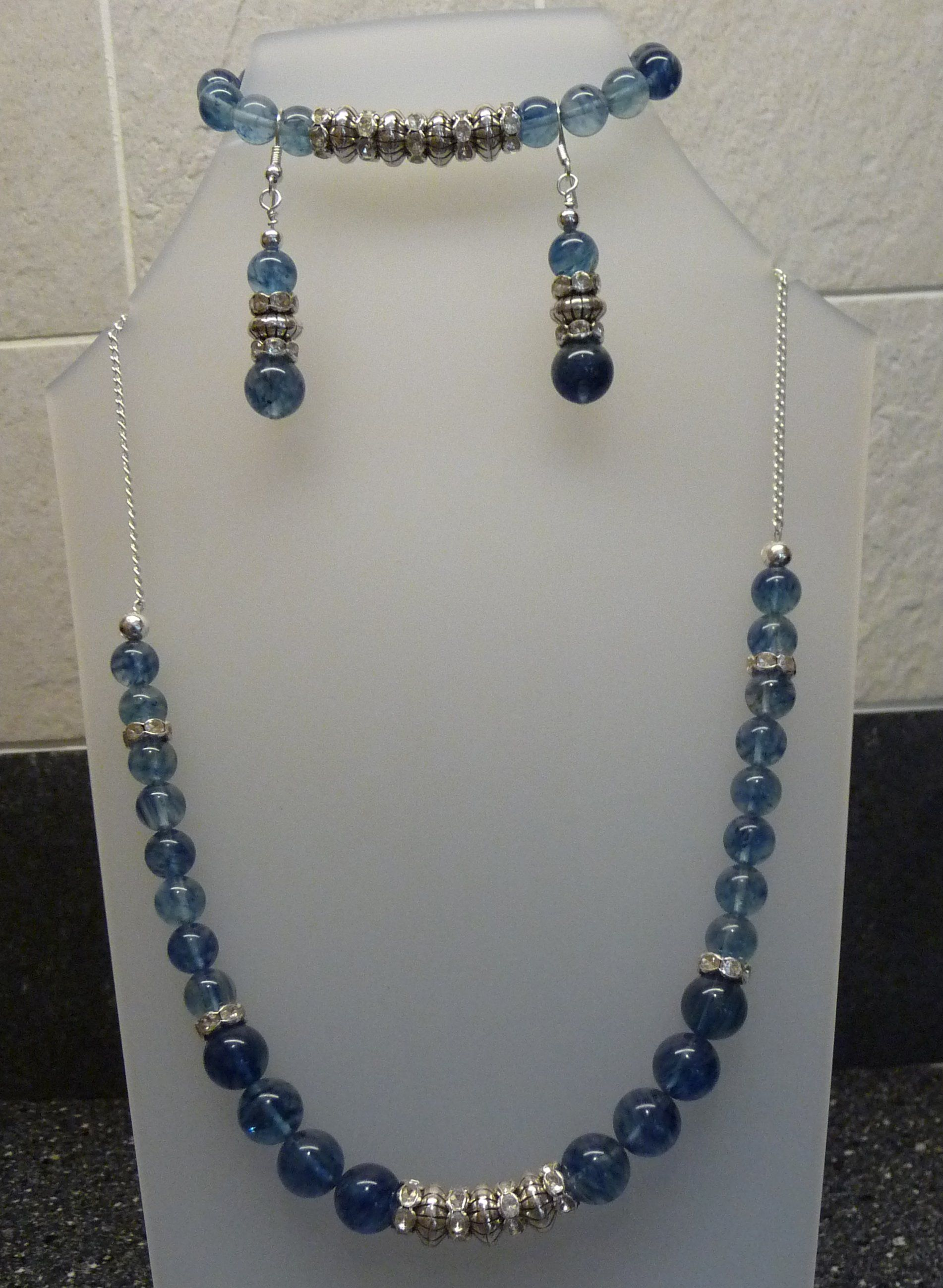 Lovely set made with rondelles and genuine gemstones