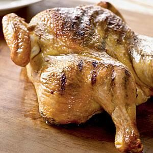 Grilled Spice-Rubbed Whole Chicken Recipe | MyRecipes.com - use less salt