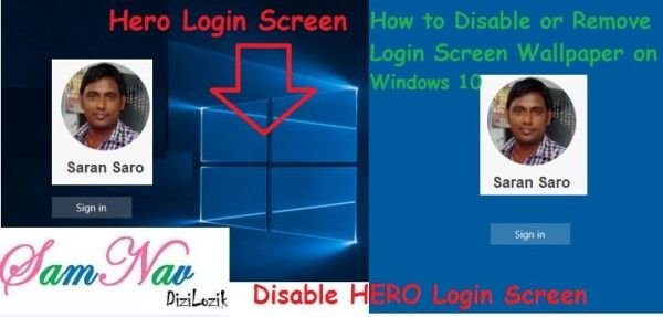 How to Disable or Remove Login Screen Wallpaper on Windows 10