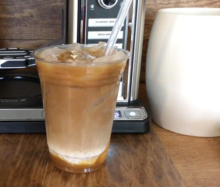 How To Make An Iced Caramel Macchiato Coffeehouse Style Ninja Coffee Bar Ninjacoffeebar Ca Ninja Coffee Bar Recipes Ninja Coffee Bar Coffee Maker Recipes
