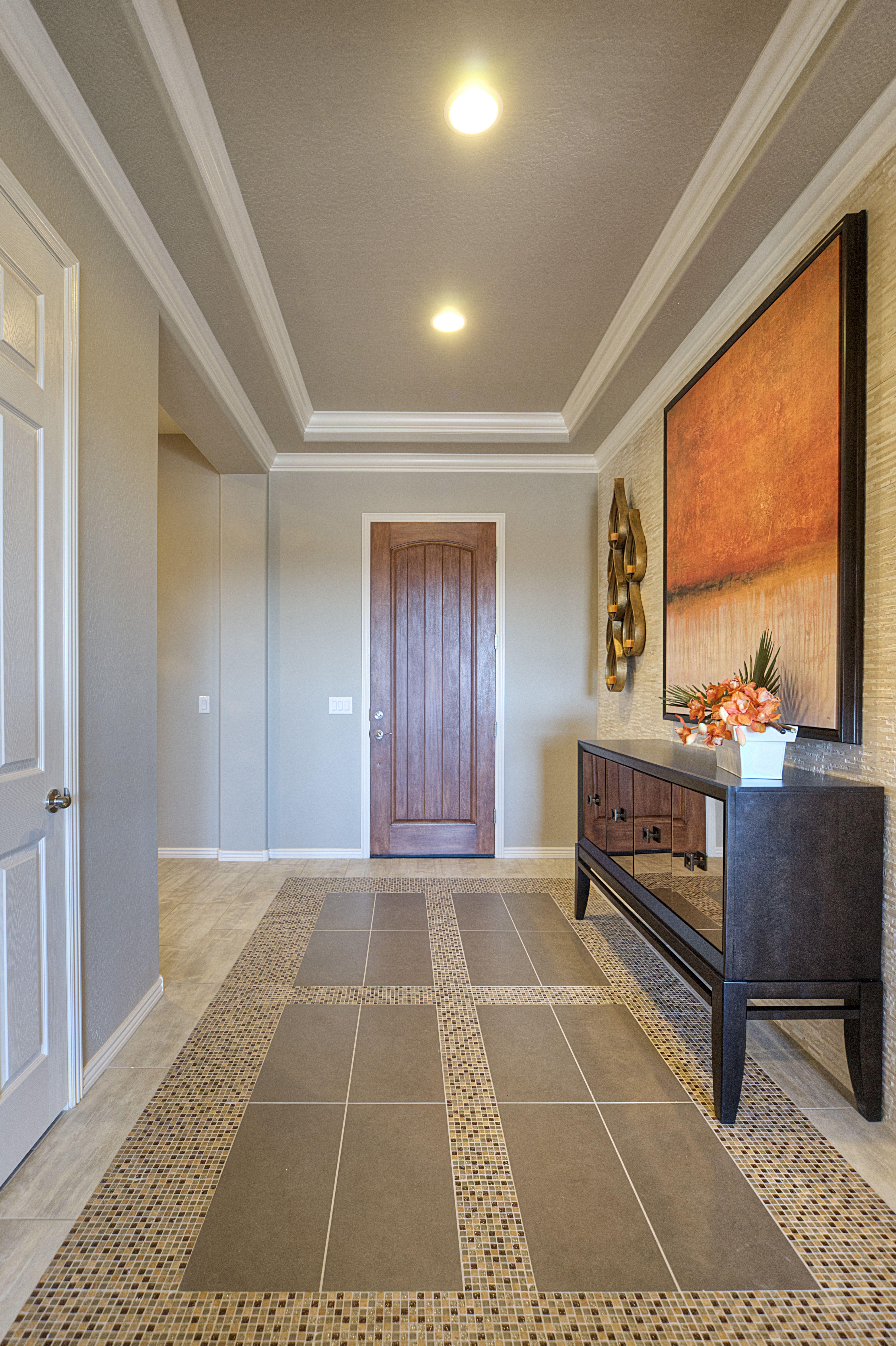 Tray Ceiling Gehan Homes Entryway Tiled Flooring Tray Ceiling Medium Wooden