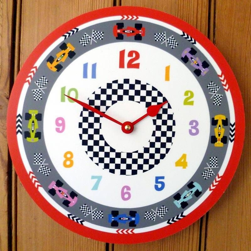 racing car clock by cute-clocks | notonthehighstreet.com | Ideas for ...