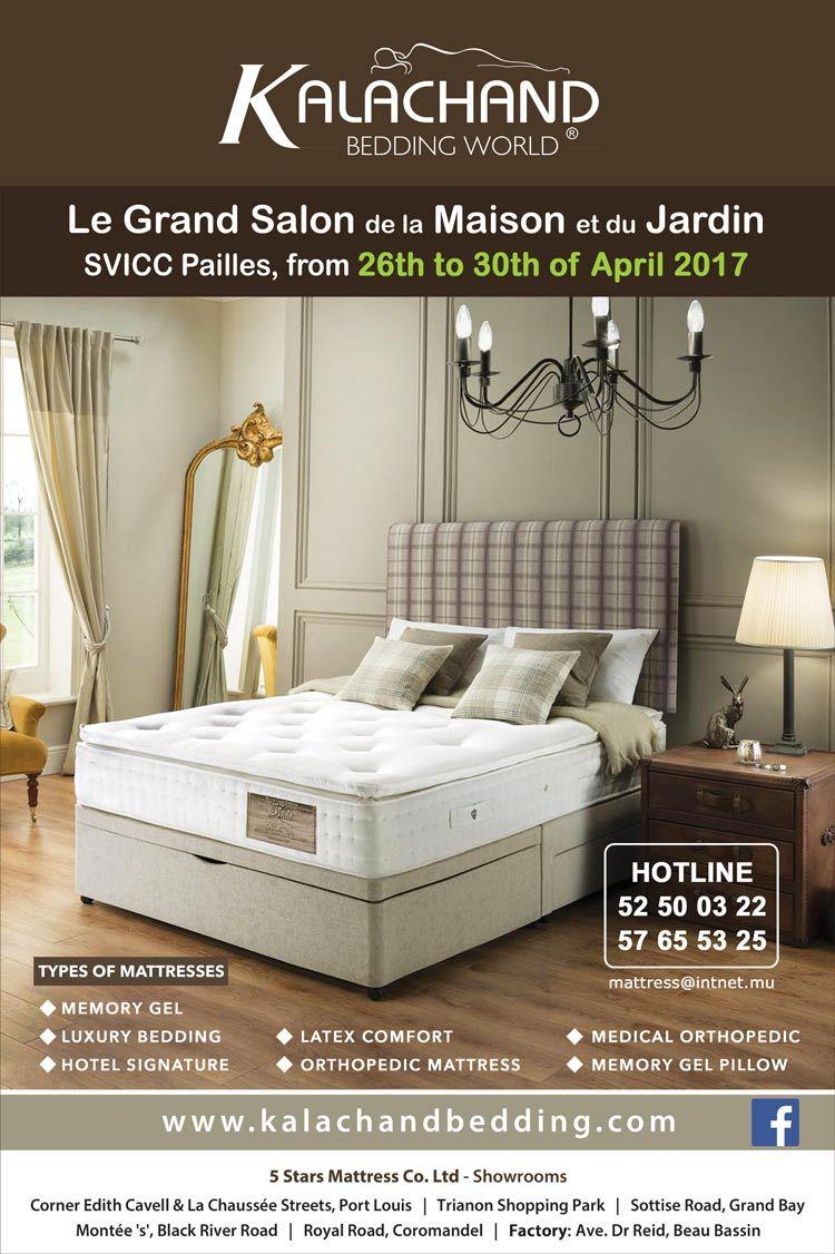 5 Stars Mattress Co. Ltd: Kalachand Bedding World au Grand Salon de la Maison et du Jardin. Tel: 52 50 03 22 / 57 65 53 25