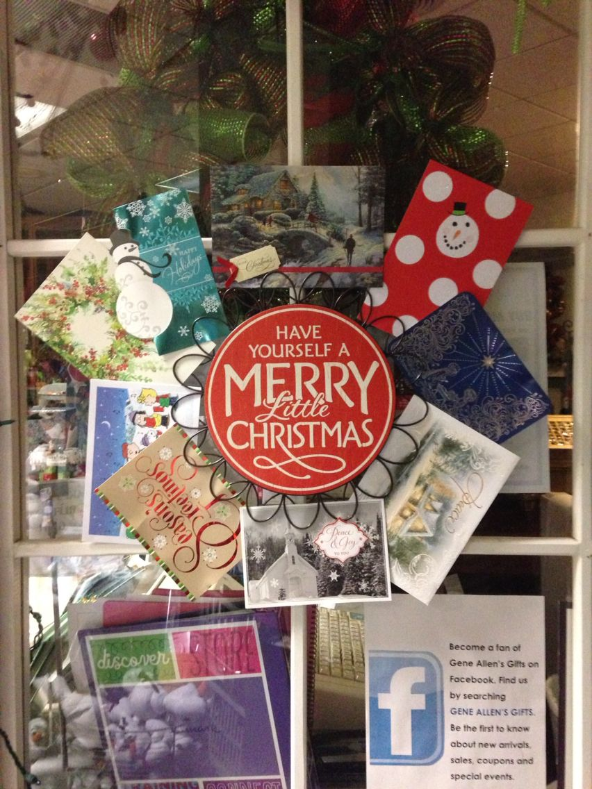 Can't figure out what to do with your collection of Christmas Cards? Check out this Christmas card reef we sell here at Gene Allen's. Just slip your favorite cards around the reef for a unique and memorable decoration.