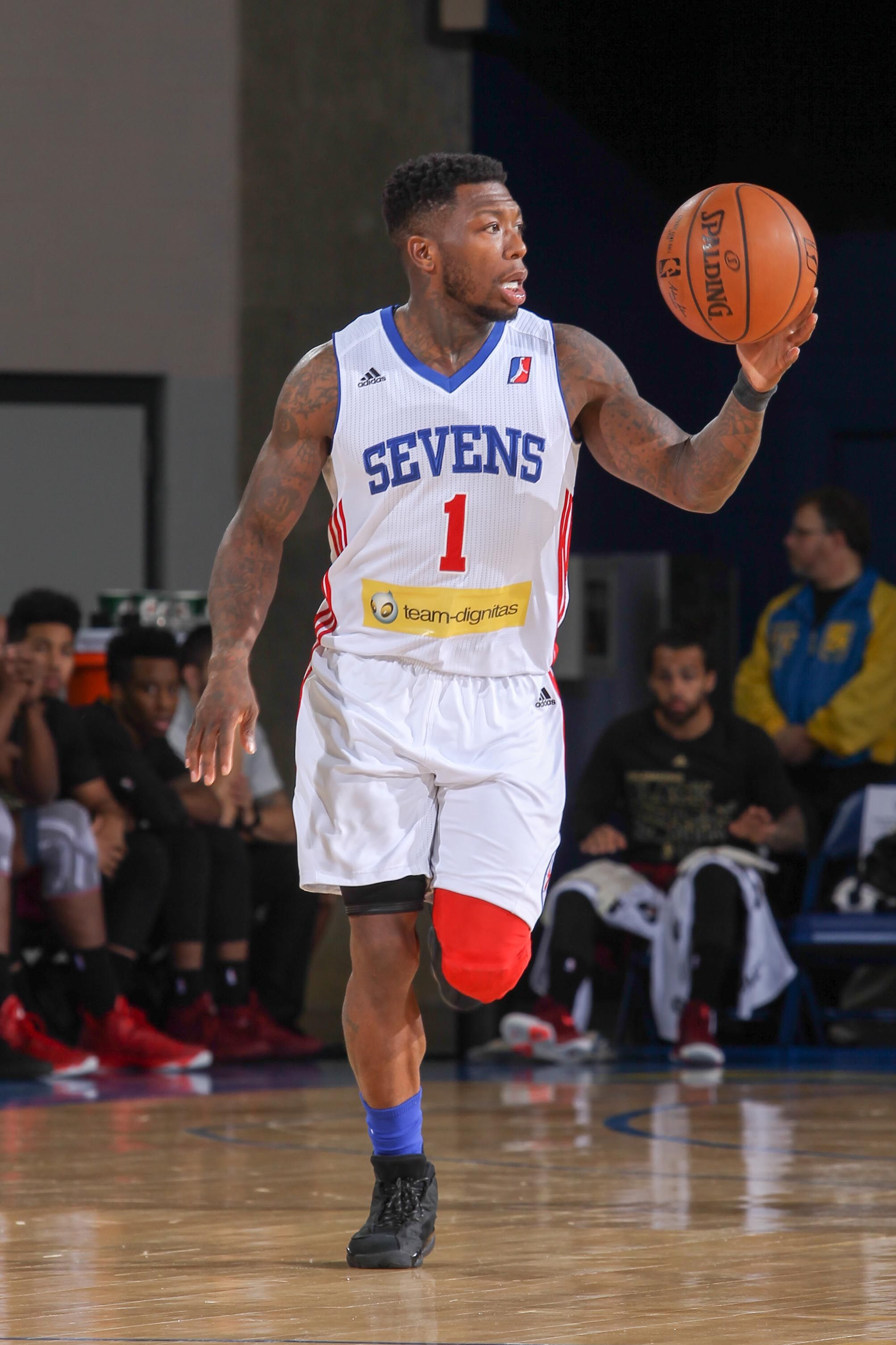 63cf6203a Delaware 87ers Guard NATE ROBINSON (1) dribble down the floor in the first  half of an NBA D-league regular season game between the Delaware 87ers and  the ...