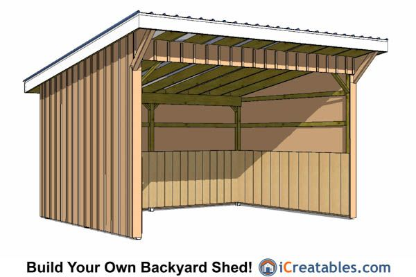 12x16 run in shed plans lean to shed plans pinterest shed plans run in shed and shed Horse run in shed plans design
