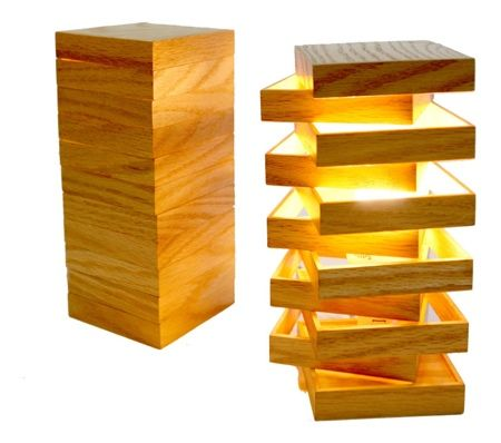 lampe en bois modulable cubix lampes en bois modulable et lampes. Black Bedroom Furniture Sets. Home Design Ideas