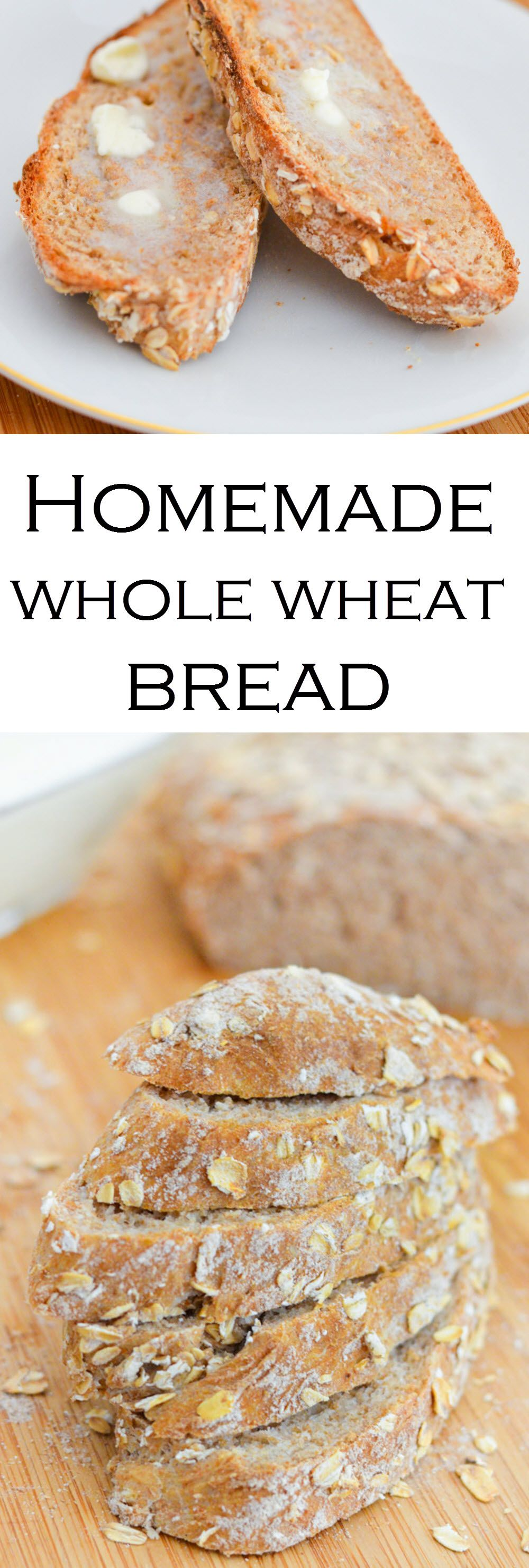 Enjoy the simple things with homemade whole wheat bread and homemade butter. With just a few ingredients, you'll have fresh bread + butter in no time!