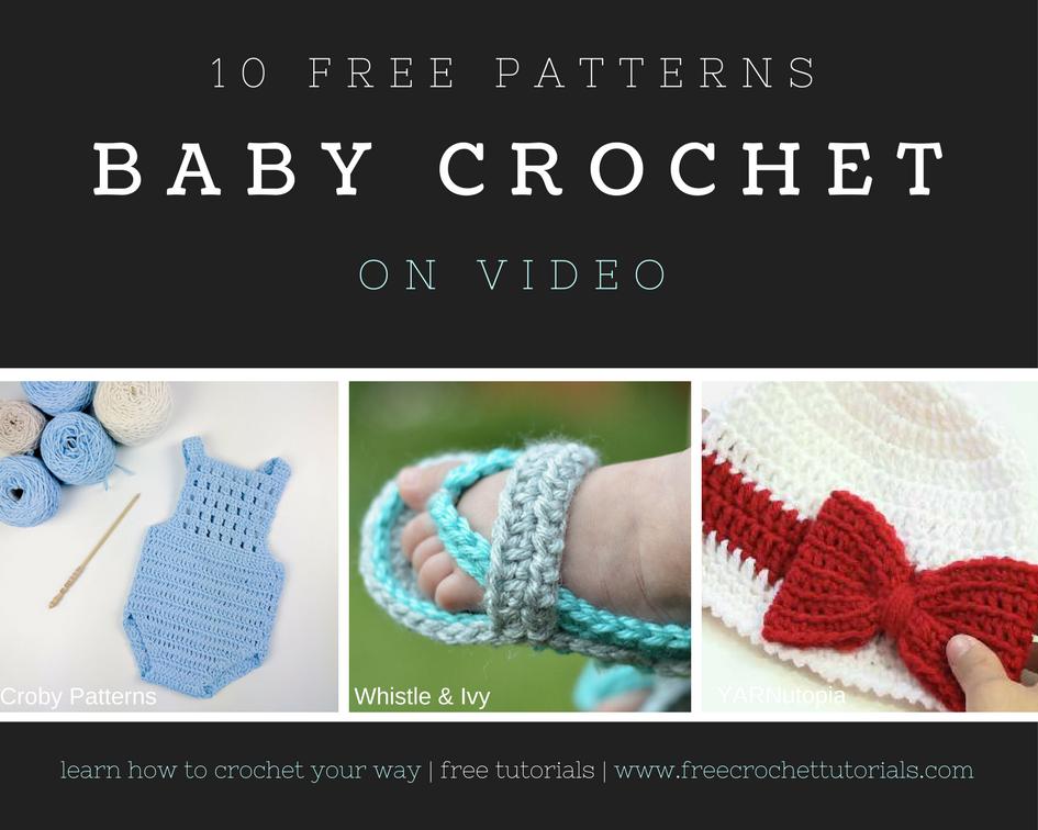 10 Free Video Crochet Patterns for Babies https://www ...