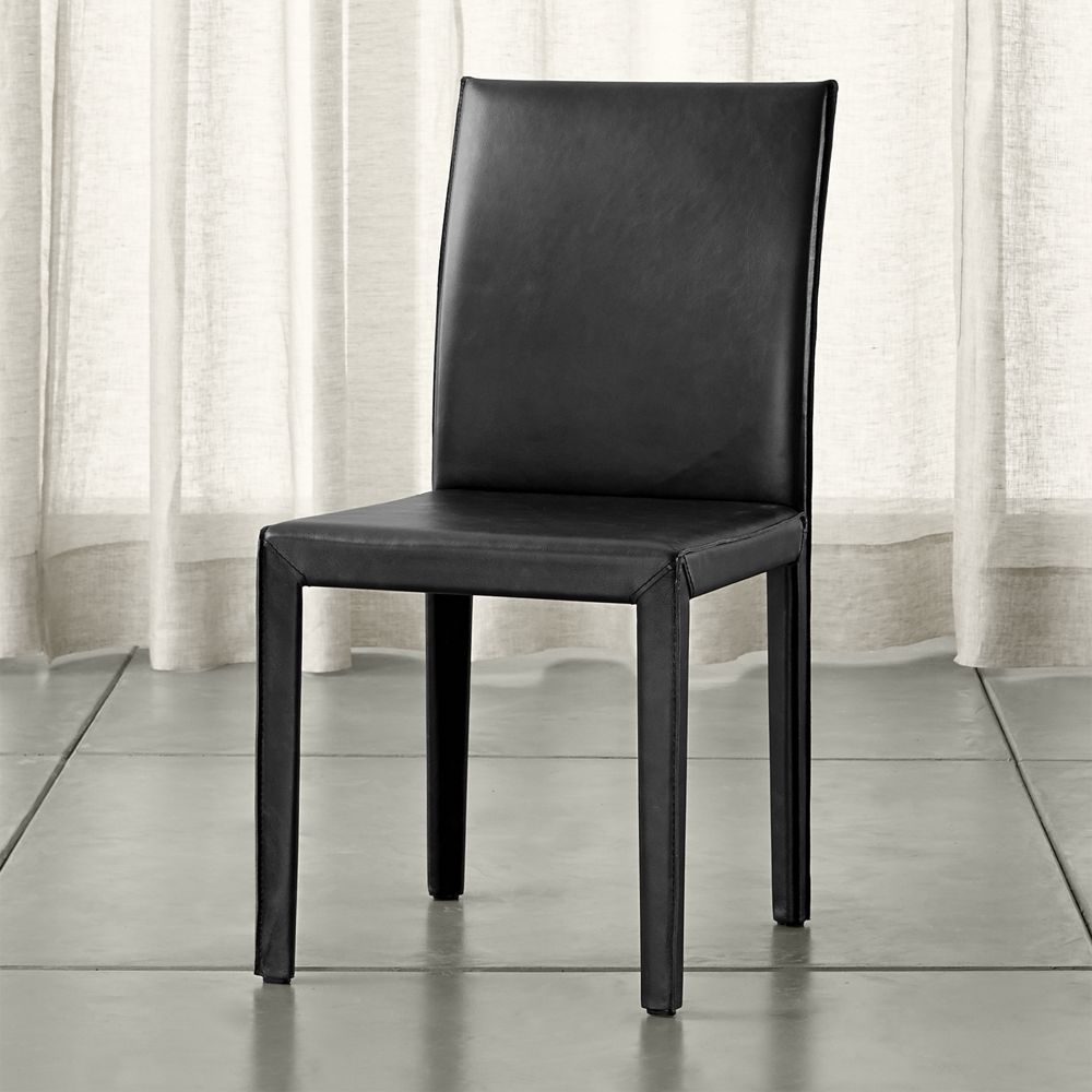 Folio viola topgrain leather dining chair viola dining chairs