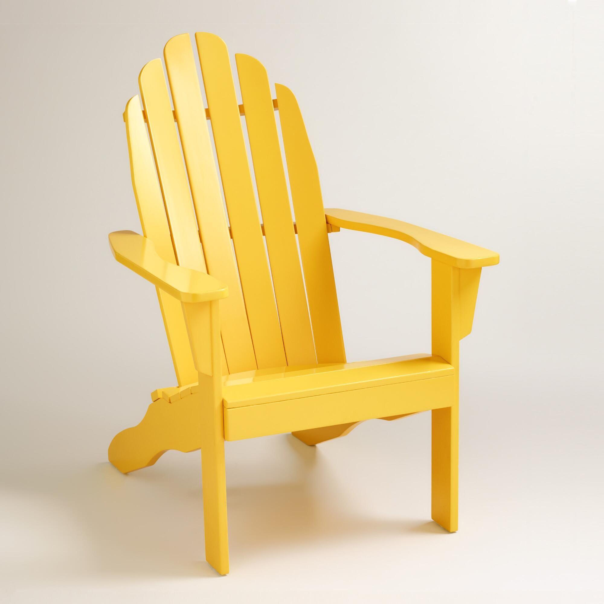 Adirondack Chair World Market Yellow Adirondack Chairs