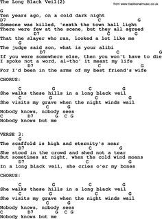 Johnny Cash Song The Long Black Veil 2 Lyrics And Chords Lyrics And Chords Johnny Cash Songs Lyrics to nobody by johnny cash from the american, vol. johnny cash song the long black veil 2