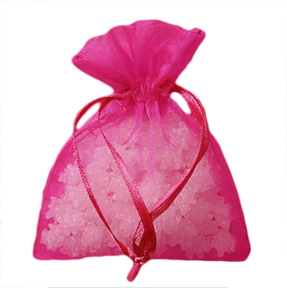 3x4 (30) Hot Pink Organza Bags, Premium Sheer Organza Bags, Wedding ...