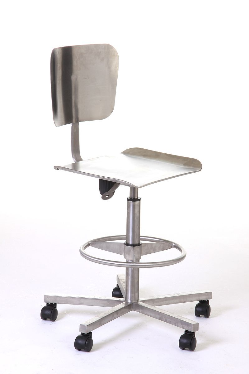 Wondrous Stainless Steel Laboratory Pneumatic Chair With Wheels Ibusinesslaw Wood Chair Design Ideas Ibusinesslaworg