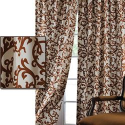 This lovely printed cotton curtain gives a more casual feel to your window decor. This window panel is tailored from the finest 100-percent cotton and finished with a weighted hem and heavy lining.