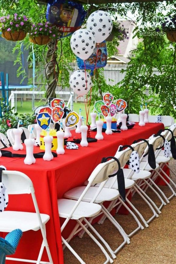 Party Table Paw Patrol Catchmyparty Com Paw Patrol
