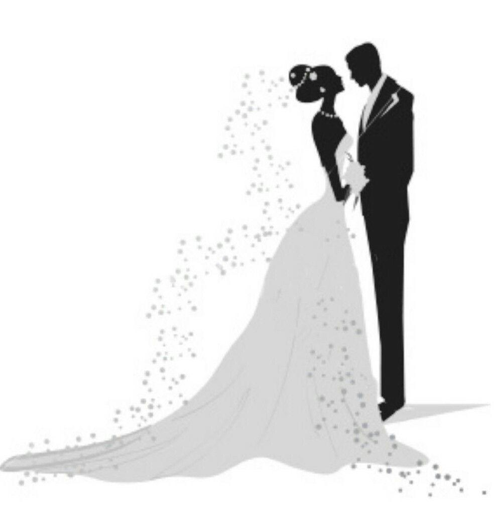 pin by marilyn thompson on printables bride groom silhouette rh pinterest com