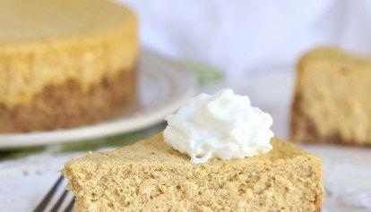 Pumpkin Eggnog Cheesecake Recipe #eggnogcheesecake