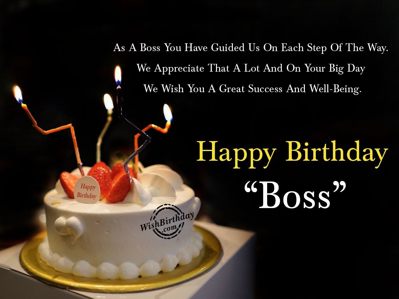 FORMAL BIRTHDAY WISHES FOR MY BOSS