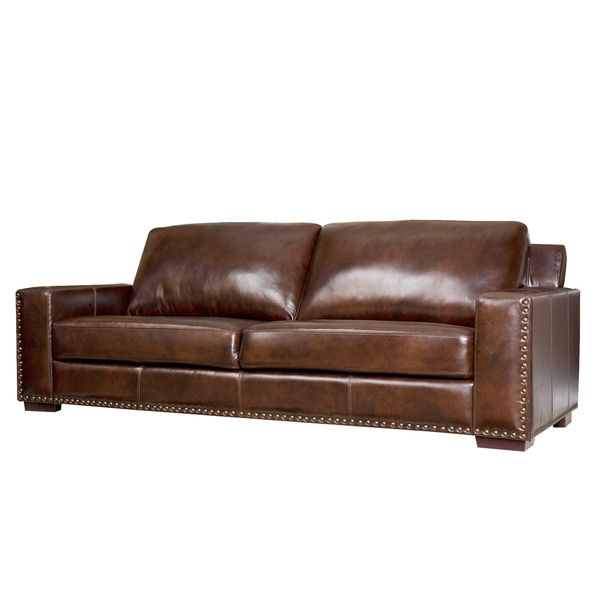 ABBYSON LIVING Barrington Hand-rubbed Top-grain Leather