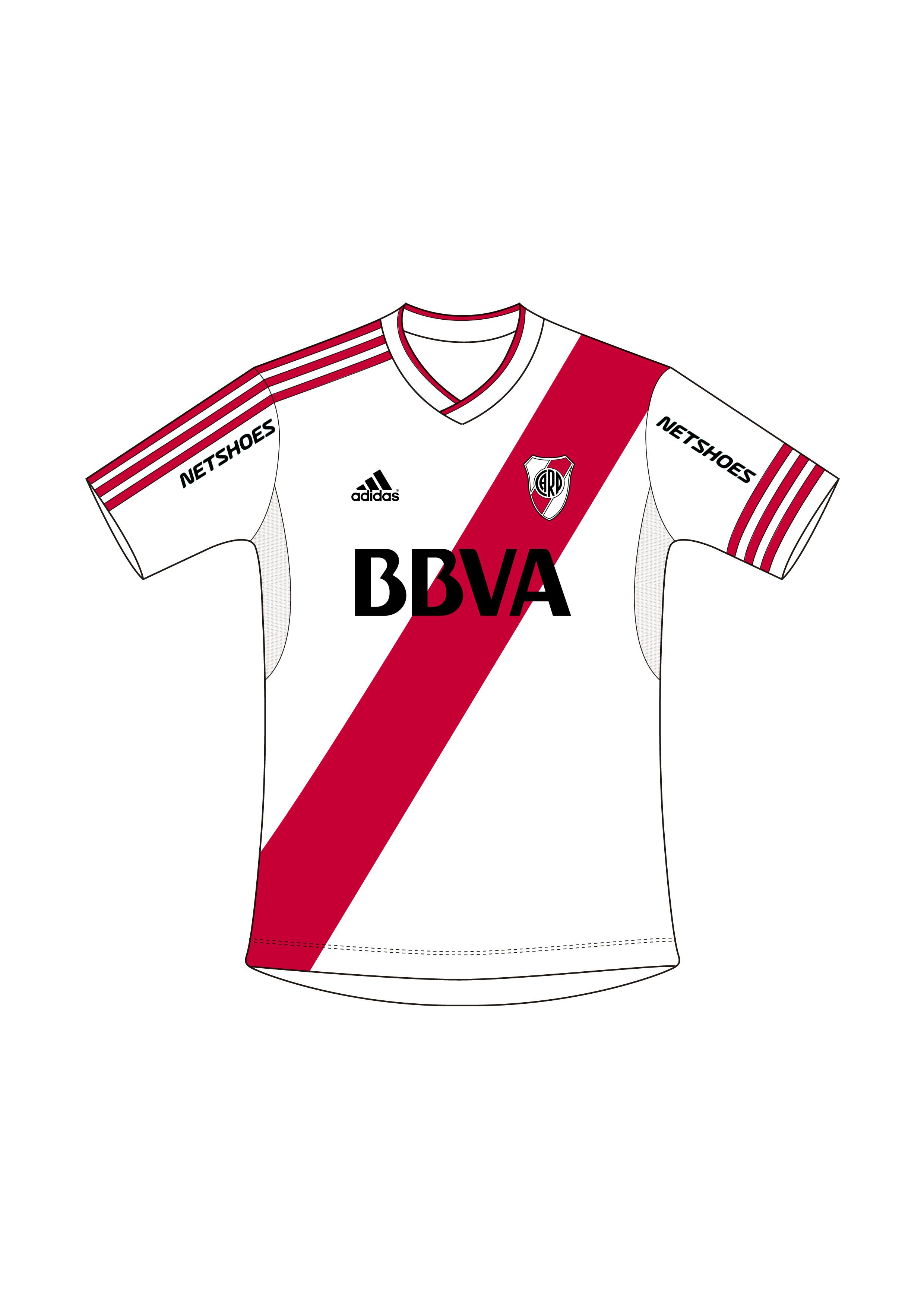 cb774dd293839 Camiseta River Plate. Temporada 2015 2016 para Adidas.