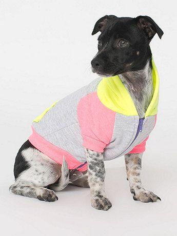 Fleece Color Block Dog Hoodie