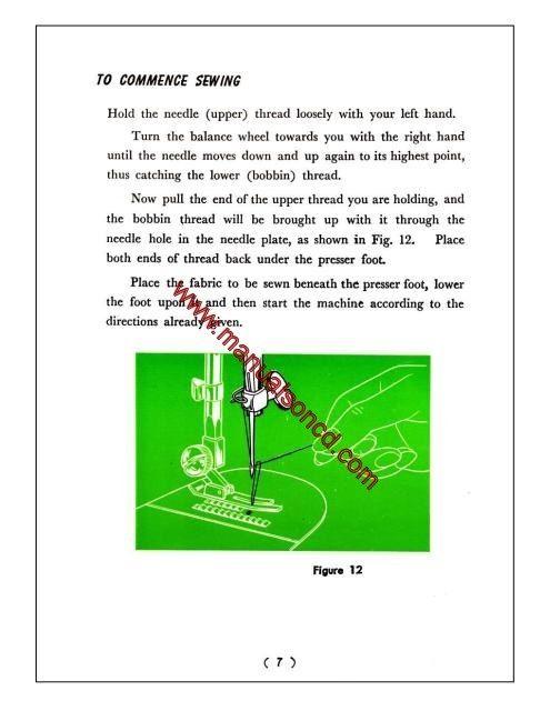New Home Model  Sewing Machine Instruction Manual  Stitch