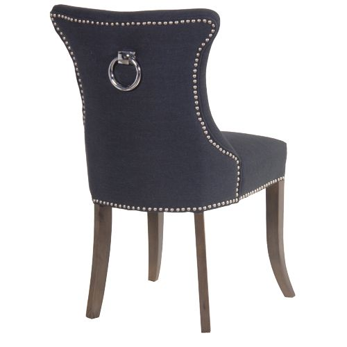 Awesome A Luxurious Silver Ring Back Black Boutique Dining Chair. Our Black Dining  Chair Features A Studded Edging And Silver Ring On The Back Making This  Dining ...