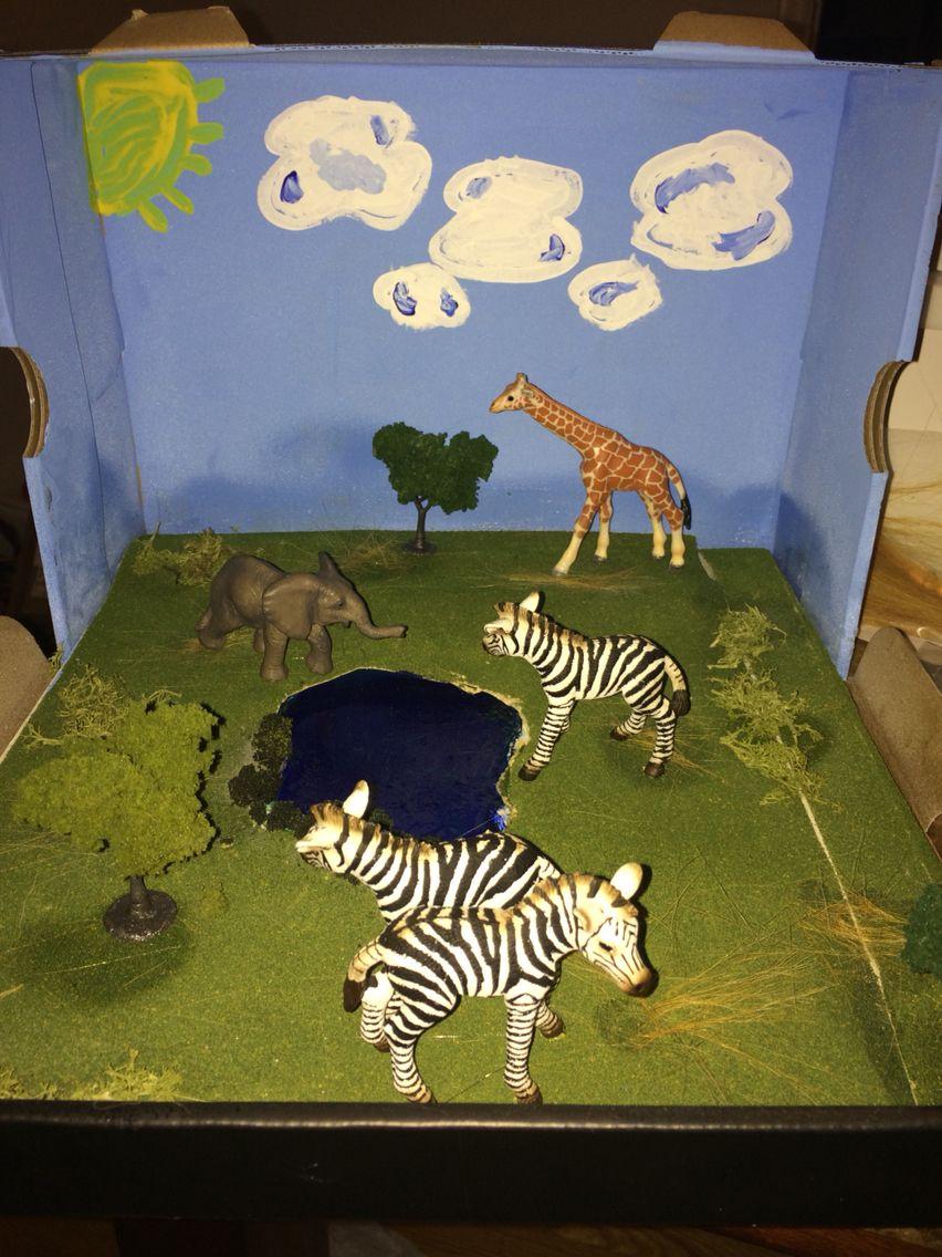 Kids Diorama With Details: Diorama Kids, Preschool Projects