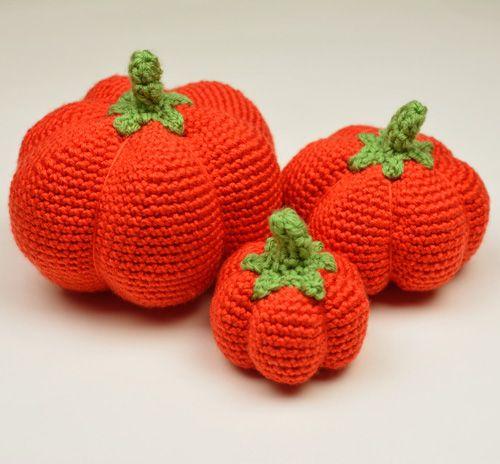 Crochet Pattern: Pumpkins (3 Sizes)   Halloween & Autumn   Pinterest ...