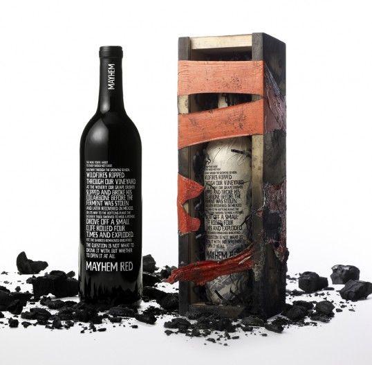 Mayhem Red Wine Bottle Design Wine Bottle Packaging Wine Design