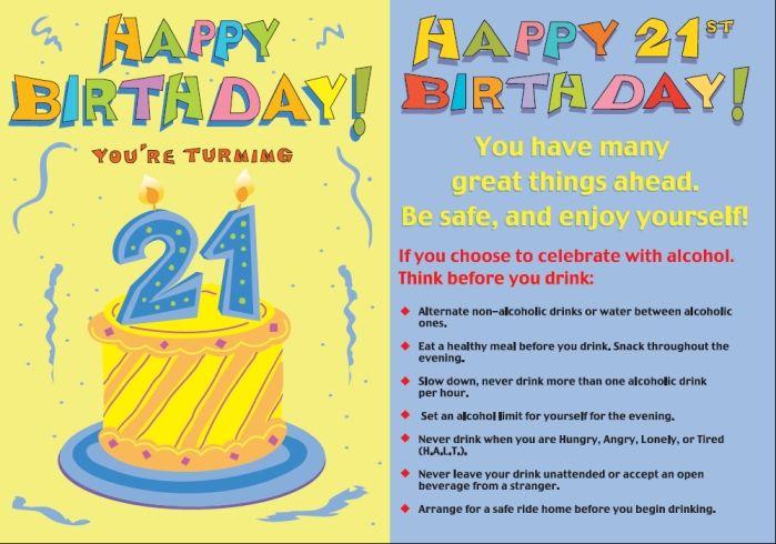 Funny 21st Birthday Quotes Funny Birthday Pinterest – Birthday Card 21