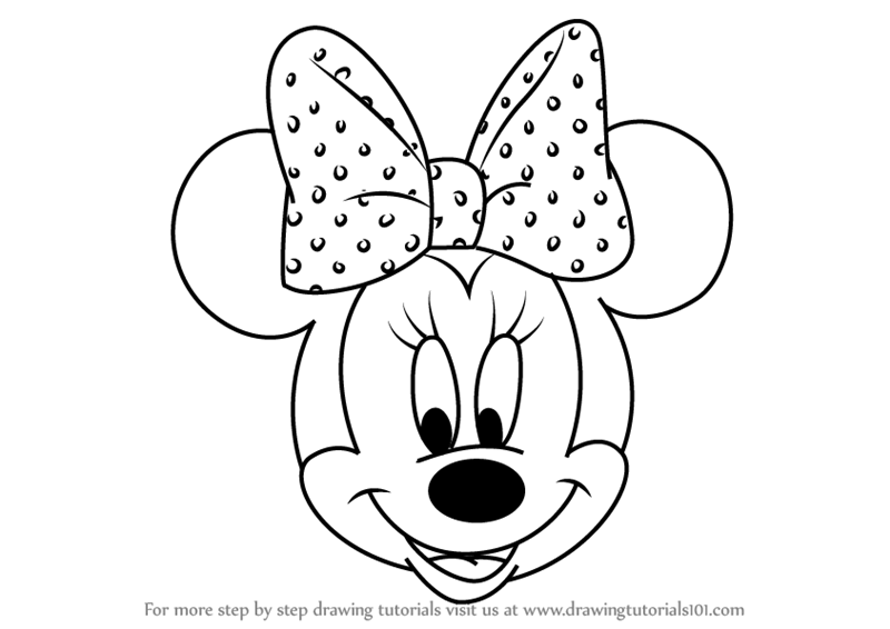 Learn How To Draw Minnie Mouse Face From Mickey Mouse Clubhouse Mickey Mouse Club Mickey Mouse Drawings Minnie Mouse Face Painting Mickey Mouse Coloring Pages