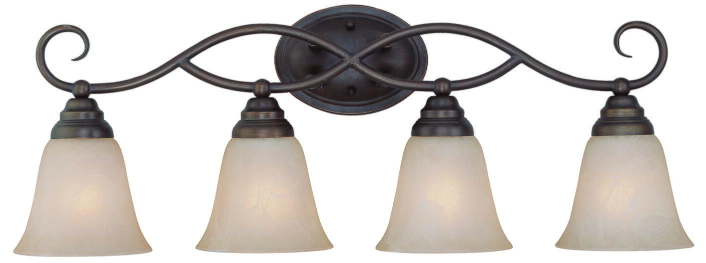 "Photo of Craftmade Cordova 4-Light 29 ""Bathroom Vanity Light in Old Bronze"
