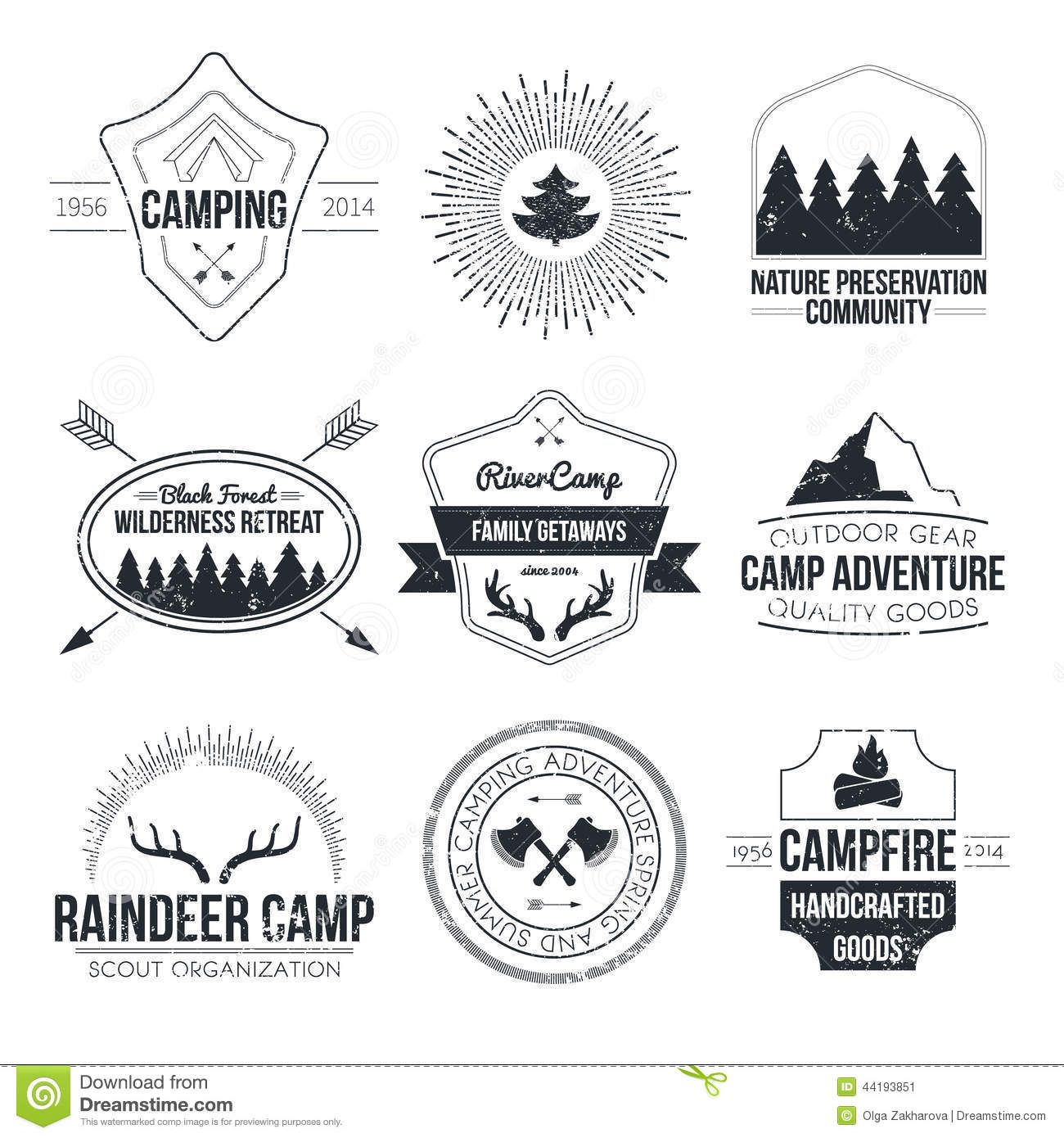 vintage summer camp LOGOS Google Search Camping icons