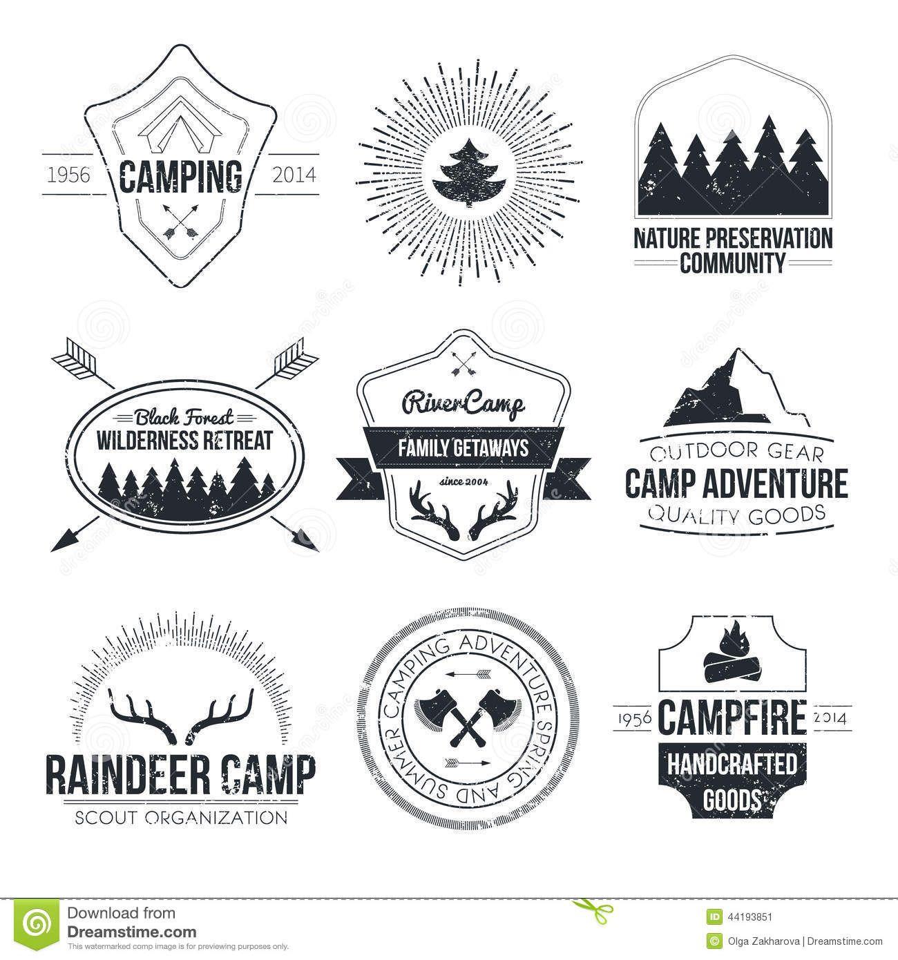 Vintage Summer Camp Logos