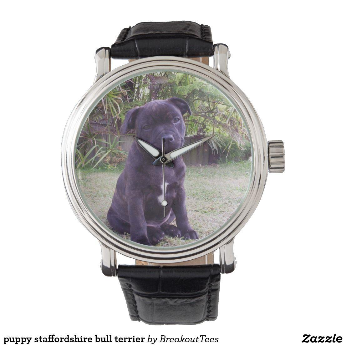 Puppy Staffordshire Bull Terrier Watch Zazzle Com Staffordshire Bull Terrier Bull Terrier Terrier