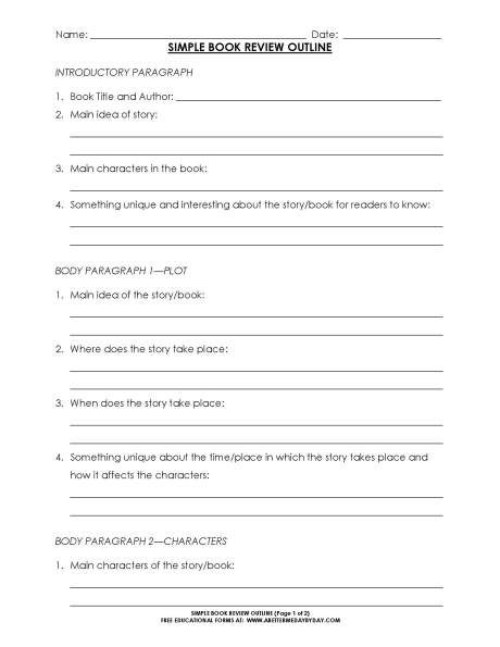 HS-Simple book review outline_Page_1 Homeschool Like a Damn Fool - bug report template