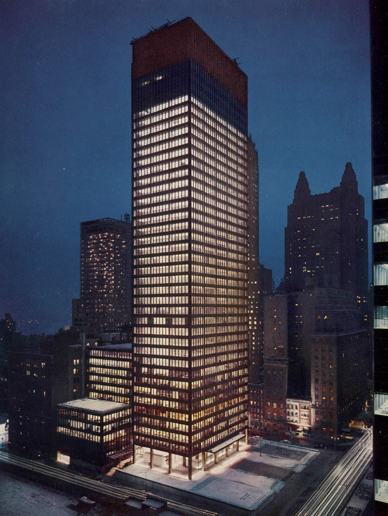 Us New York Ny Seagram Building Architect Mies Van Der Rohe