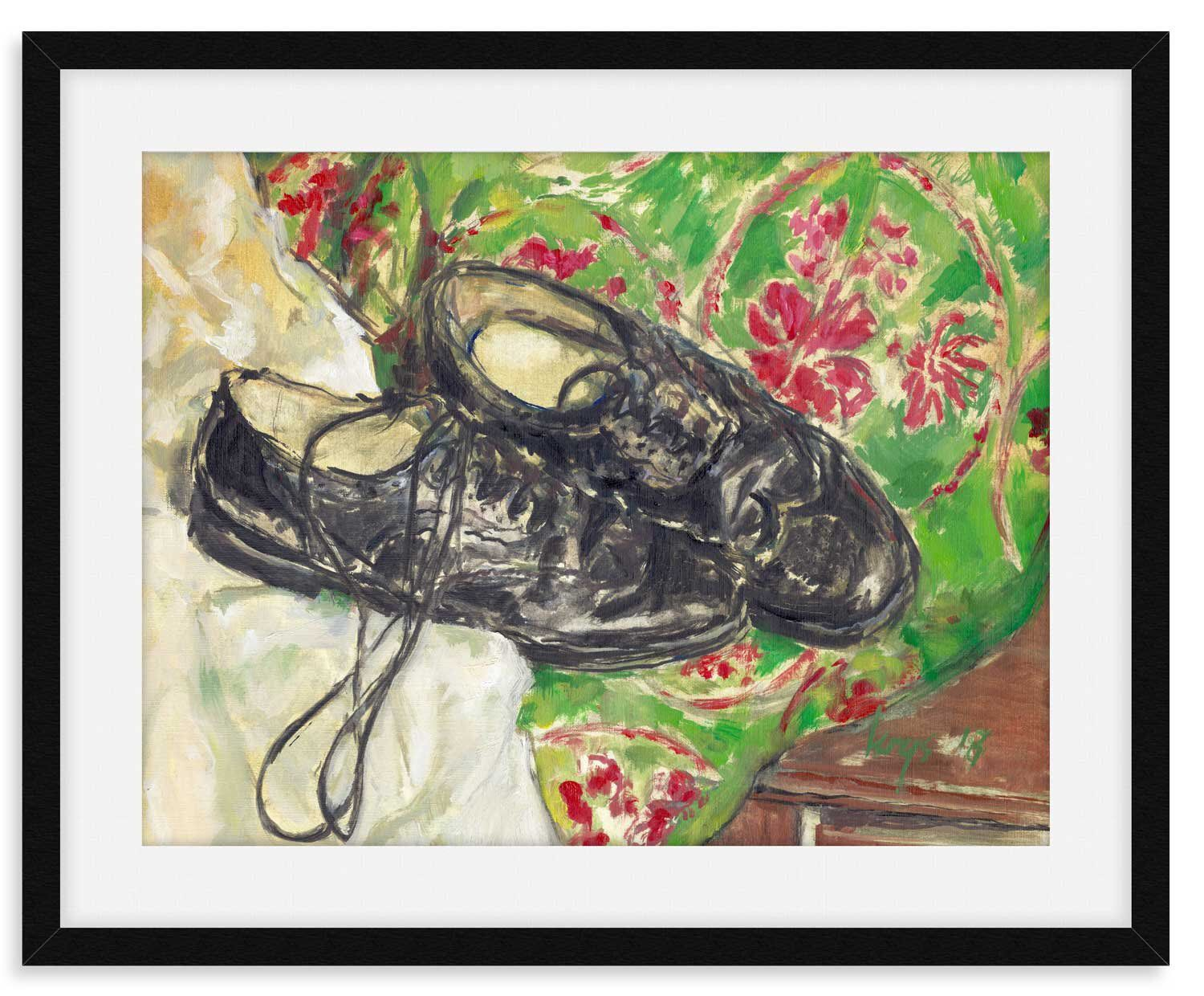 Scottish Kilt Shoes Large Printable File From Original Oil Painting Instant Download Shoe Painting Printable Up To 70x60cm Or 40x30