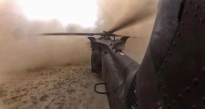 Dust landing