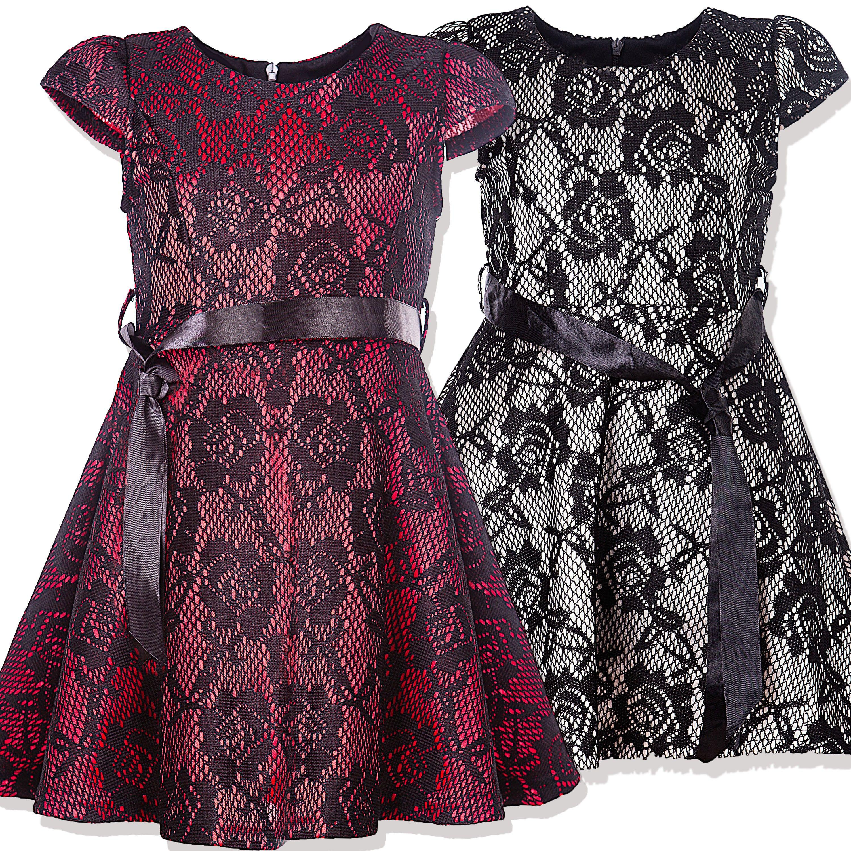 Schickes Mädchen Kleid geblümt mit Spitze #Mädchen #Mode #Bekleidung ...